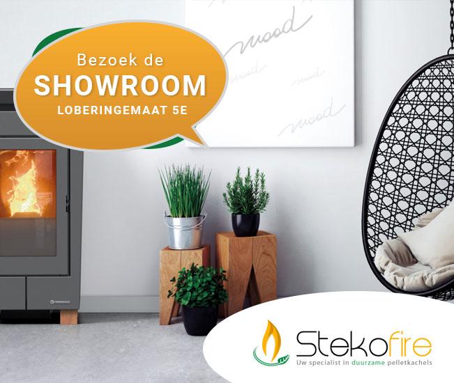 Stekofire Meppel showroom palletkachel